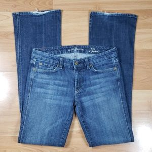 "7 For All Mankind Long ""A"" Pocket Flared Jeans"
